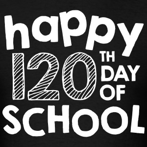 Happy 120th Day of School | Chalk | Men's Classic - Men's T-Shirt