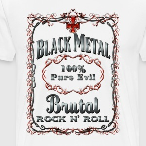 BLACK METAL BOTTLE LABEL - Men's Premium T-Shirt