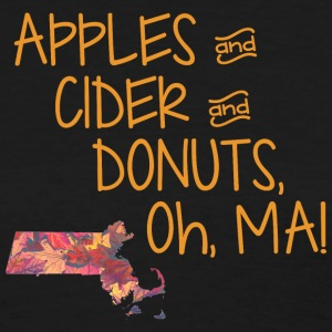 Apples Ciders Donuts Oh Ma! Massachusetts Women's T-Shirts - Women's T-Shirt