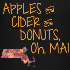 Apples Ciders Donuts Oh Ma! Massachusetts Kids' Shirts - Kids' Premium T-Shirt