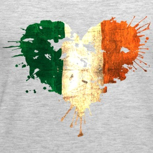 Irish Bleeding Love Heart Tanks - Women's Premium Tank Top