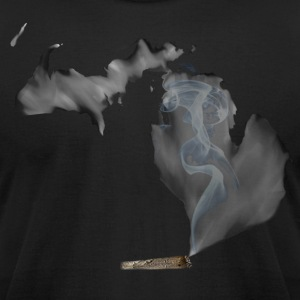 Michigan UP in Smoke T-Shirts - Men's T-Shirt by American Apparel