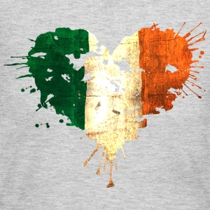 Irish Bleeding Love Heart Long Sleeve Shirts - Women's Long Sleeve Jersey T-Shirt