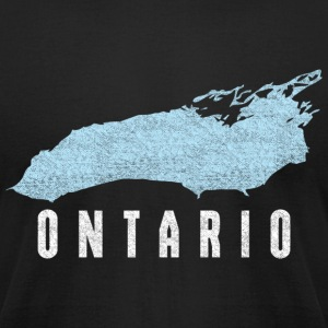 Lake Ontario Great Lakes T-Shirts - Men's T-Shirt by American Apparel