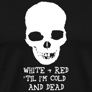 White and Red Cold Dead Hockey T-Shirts - Men's Premium T-Shirt