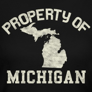 Distressed Property of Michigan Long Sleeve Shirts - Women's Long Sleeve Jersey T-Shirt