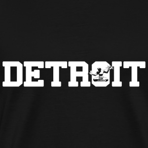 Detroit with Spirit Statue T-Shirts - Men's Premium T-Shirt