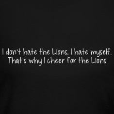 Funny Lions Football Hate Long Sleeve Shirts