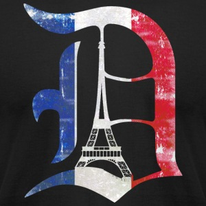 Detroit Stand with Paris T-Shirts - Men's T-Shirt by American Apparel