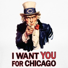 Want You For Chicago USA Uncle Sam Long Sleeve Shirts