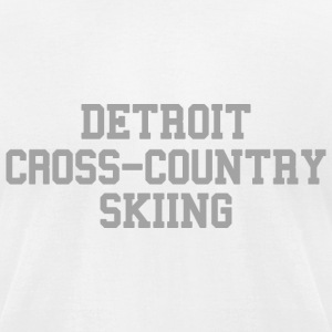 Detroit Cross-Country Skiing T-Shirts - Men's T-Shirt by American Apparel