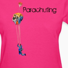 parachuting Women's T-Shirts