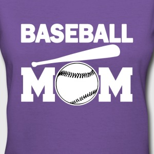 Baseball Mom funny shirt - Women's V-Neck T-Shirt