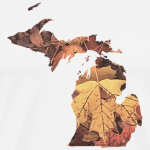 Michigan Autumn Fall Leaves T-Shirts - Men's Premium T-Shirt