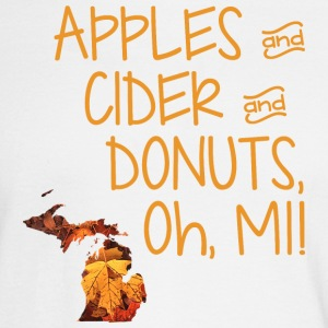 Apples Cider Donuts Oh Michigan Leaves Long Sleeve Shirts - Men's Long Sleeve T-Shirt