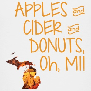 Apples Cider Donuts Oh Michigan Leaves Kids' Shirts - Kids' Premium T-Shirt
