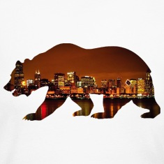 Windy City Bear Skyline Long Sleeve Shirts