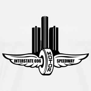 Interstate 696 Funny Motor Speedway T-Shirts - Men's Premium T-Shirt