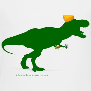Cheesehead Cheeseheadasaurus Packers Dinosaur Baby & Toddler Shirts - Toddler Premium T-Shirt