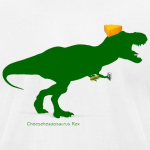 Cheesehead Cheeseheadasaurus Packers Dinosaur T-Shirts - Men's T-Shirt by American Apparel