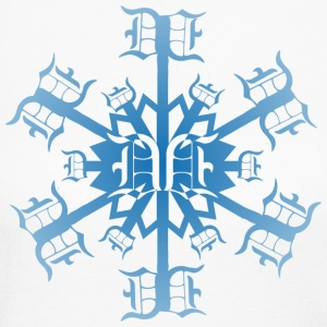 Detroit Winter D Snowflake  Long Sleeve Shirts - Women's Long Sleeve Jersey T-Shirt