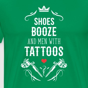 Tattoo Shoes booze and men with Tattoos T-Shirt T-Shirts - Men's Premium T-Shirt