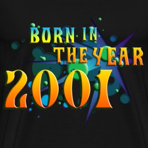 022016born_in_the_year_2001_a T-Shirts - Men's Premium T-Shirt
