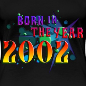 022016born_in_the_year_2002_b Women's T-Shirts - Women's Premium T-Shirt