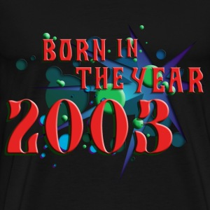 022016born_in_the_year_2003_c T-Shirts - Men's Premium T-Shirt