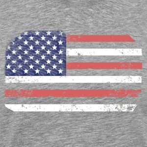 American Flag Distressed Art - Men's Premium T-Shirt