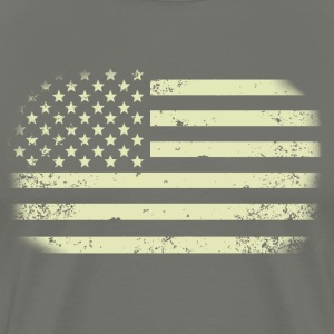 Faded Transparent Distressed American Flag Origina - Men's Premium T-Shirt