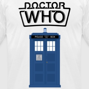 Doctor Who - TARDIS - Men's T-Shirt by American Apparel