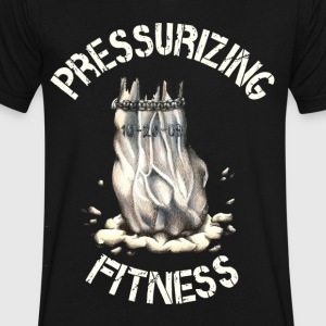 Pressurizing_Fitness T-Shirts - Men's V-Neck T-Shirt by Canvas