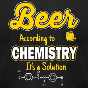Beer is a solution T-Shirts - Men's T-Shirt by American Apparel