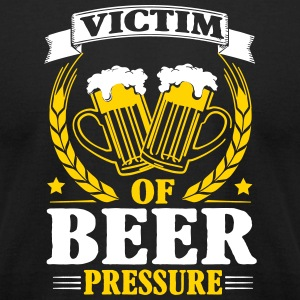 Victim of beer pressure T-Shirts - Men's T-Shirt by American Apparel