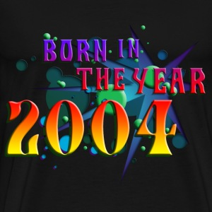022016born_in_the_year_2004_b T-Shirts - Men's Premium T-Shirt