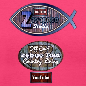 Rustic Logo for YouTuber:Zebco Rod Off Grid &Zevco - Women's V-Neck T-Shirt