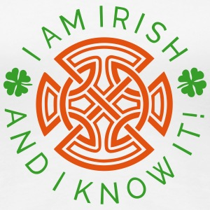 Irish and I Know It - Irish Ornament 2C Women's T-Shirts - Women's Premium T-Shirt