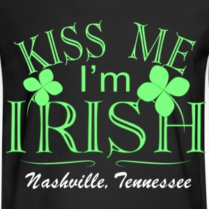 Nashville Kiss Me Irish Long Sleeve Shirts - Men's Long Sleeve T-Shirt
