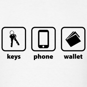 Keys Phone Wallet - Men's T-Shirt