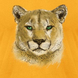 Cougar T-Shirts - Men's T-Shirt by American Apparel