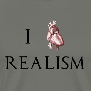 I HEART REALISM - Men's Premium T-Shirt