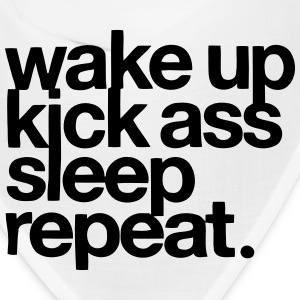 WAKE UP - KICK ASS - SLEEP - REPEAT Caps - Bandana