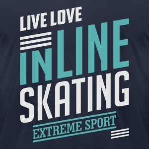 Inline Skating Extreme Sport T-shirt - Men's T-Shirt by American Apparel