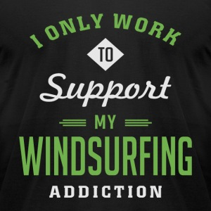 Windsurfing Extreme Sport T-shirt - Men's T-Shirt by American Apparel