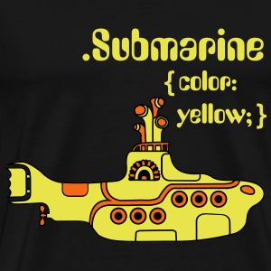 Yellow Submarine in CSS T-Shirts - Men's Premium T-Shirt