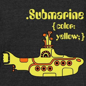 Yellow Submarine in CSS T-Shirts - Unisex Tri-Blend T-Shirt by American Apparel