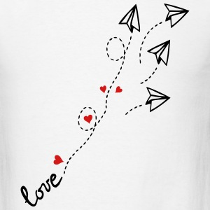 love letter plane  - Men's T-Shirt