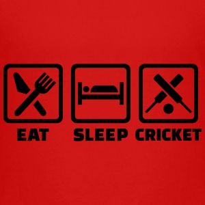 Eat sleep cricket Kids' Shirts - Kids' Premium T-Shirt