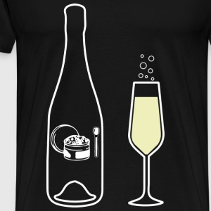 Wine Uncorked Champagne - Men's Premium T-Shirt